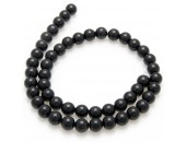 Onyx, 40cm collier, polerad,  6mm