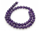 Amethyst violett, 40cm collier, 8mm