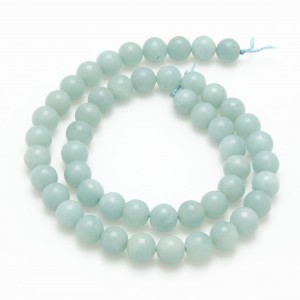 Amazonite, 40cm collier, polerad, 8mm, A+ kval