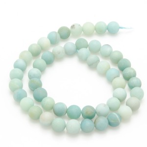 Amazonite, 40cm collier, matt, 8mm, A+ kval