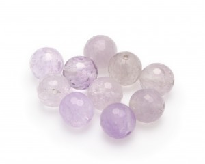 Amethyst lavendel,10-pack,  facetterad,12mm