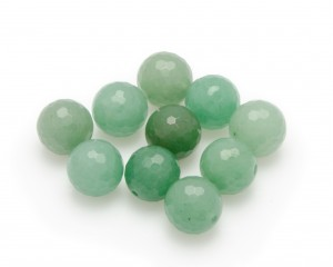 Aventurine, 10-pack, facetterad 12mm